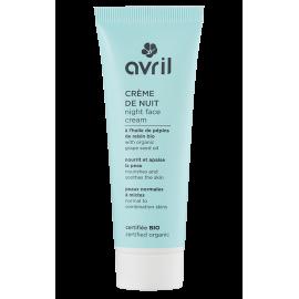 Crème de nuit peaux normales et mixtes - 50 ml certifié bio